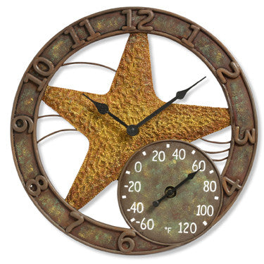 Taylor Precision Starfish Clock with Thermometer
