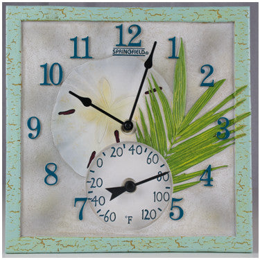 Taylor Precision Sand Dollar Clock with Thermometer