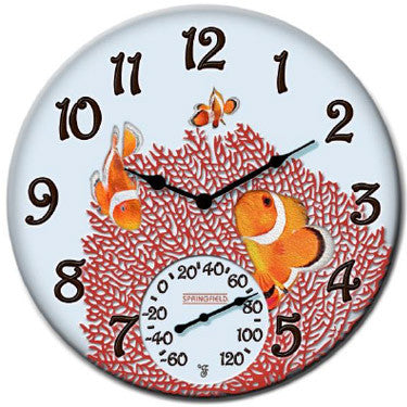 Taylor Precision Clown Fish Clock with Thermometer