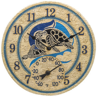 Taylor Precision Sea Turtles Clock with Thermometer