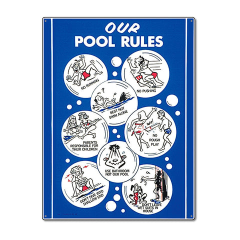 PoolMaster Our Pool Rules Sign