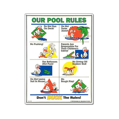 PoolMaster Don't Duck The Rules Sign