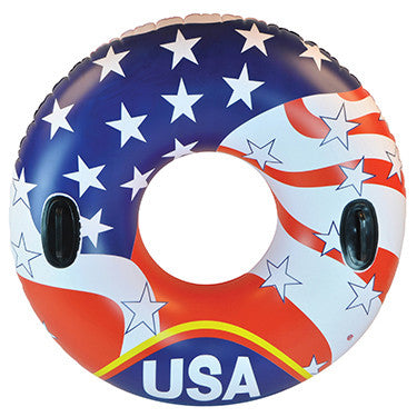 "SunSplash 46"" USA Inflatable Swim Tube with Handles"