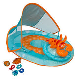 Swimways Baby Spring Float Activity Center with Canopy, Lobster