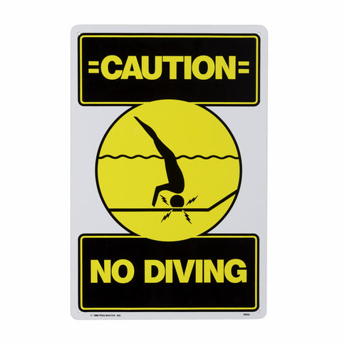 PoolMaster No Diving Sign