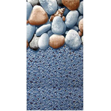 "15'X24'X48/52"" Oval Rock Island Overlap Liner"