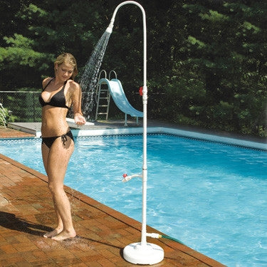 swimline portable poolside shower with foot wash