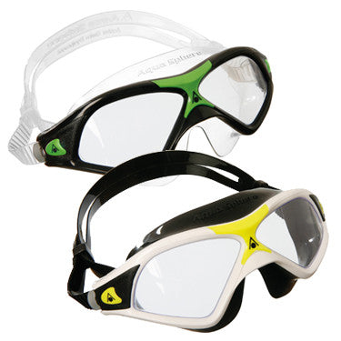 US Divers Aqua Sphere Adult Seal Mask XP2 with Clear Lens