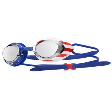 Blackhawk Racing Goggle USA Mirrored-Silver/Red/Navy