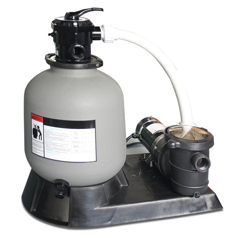 "Swinline 16"" Sand Filter System with 1 HP Pump"