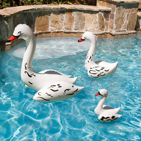 PoolMaster Swan Family Pool Decor