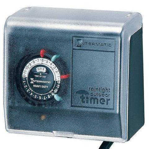Intermatic Outdoor Mechanical Plug-In Timer with Built-In Enclosure