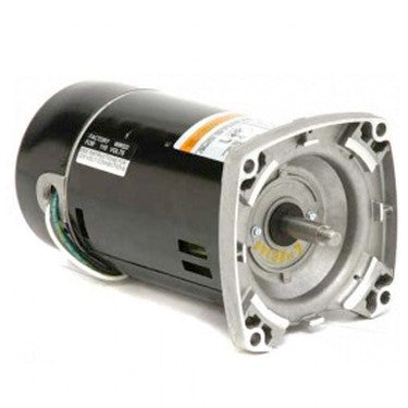 US Motors 1.5 HP 2-Speed Square Flange Threaded Shaft Motor