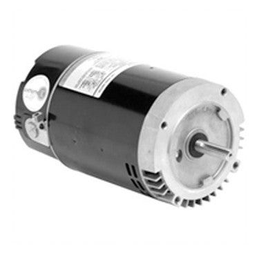 US Motors 1 HP 2-Speed Round Flange Threaded Shaft Motor