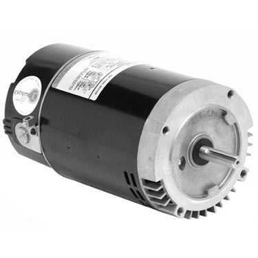 US Motors 1.5 HP 2-Speed Round Flange Threaded Shaft Motor