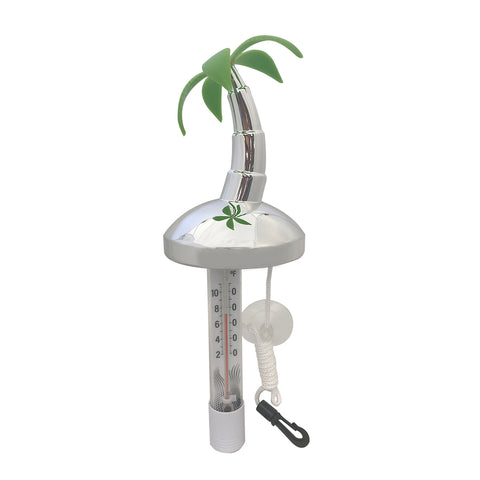 Floating Thermometer Desert Island Chrome