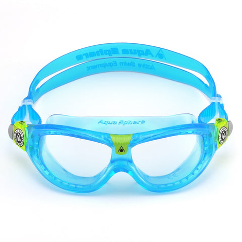 Seal 2 Kids Mask Clear Lens Aqua/Lime