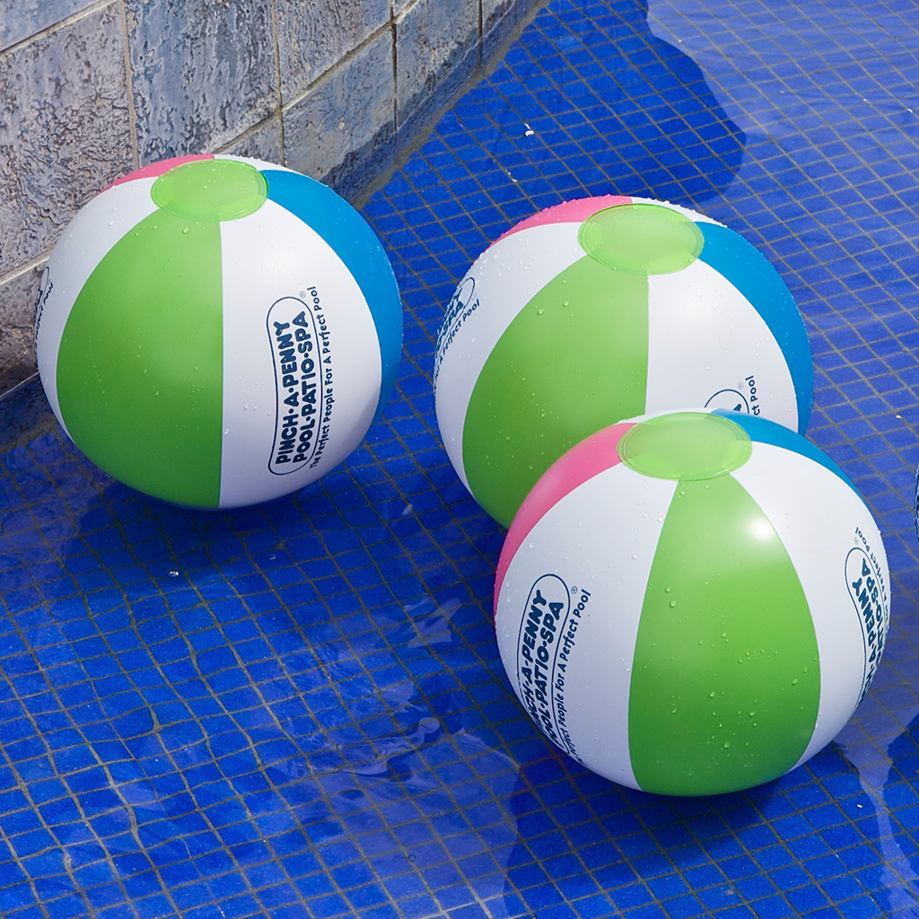 Swimming  Inflatable Jumbo Beach Balls 5 Pack 20 Inches Solid Color Pool Toys