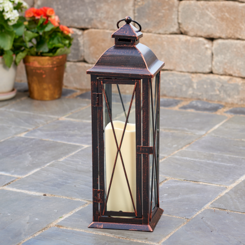 "Smart Living Siena 16"" LED Candle Lantern"