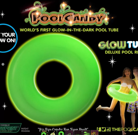 "Pool Candy Glow In The Dark 36"" Water Tube"