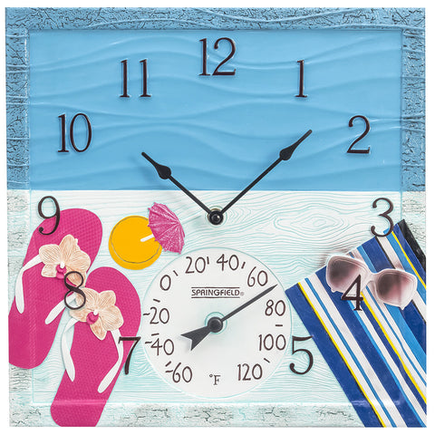 Taylor Precision At The Pool Clock with Thermometer