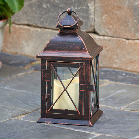"Smart Living Aversa 10"" LED Candle Lantern"
