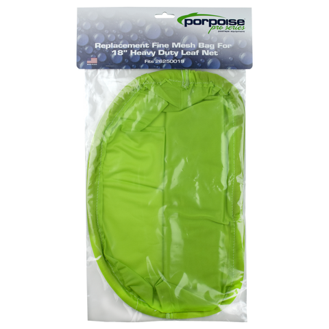 "Replacement Fine Mesh Bag for Porpoise Pro Series 18"" Heavy Duty Leaf Net"