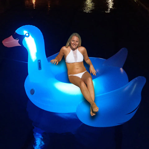 Swimline Giant LED Light Up Swan