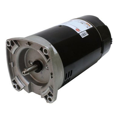 2.5 HP Square Flange Threaded Shaft Motor