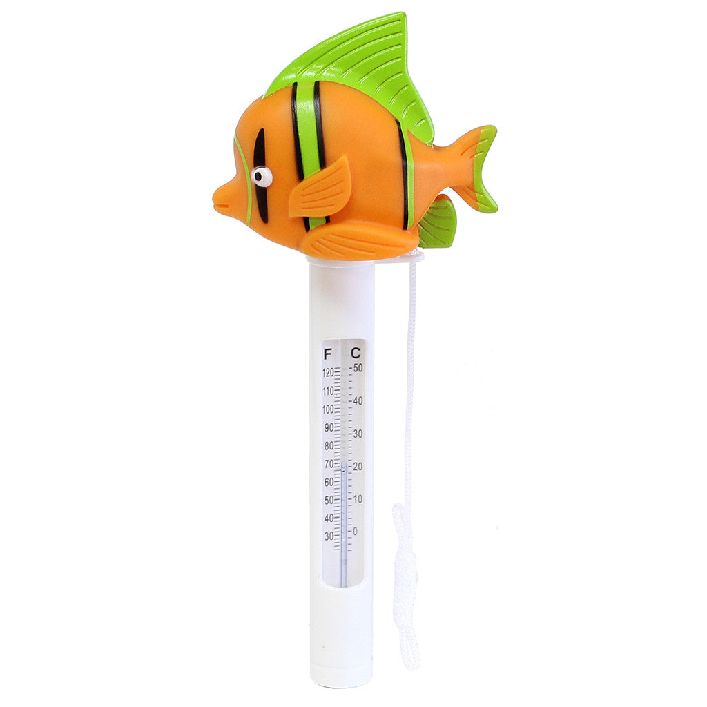 Porpoise Orange Fish Soft Top Floating Thermometer
