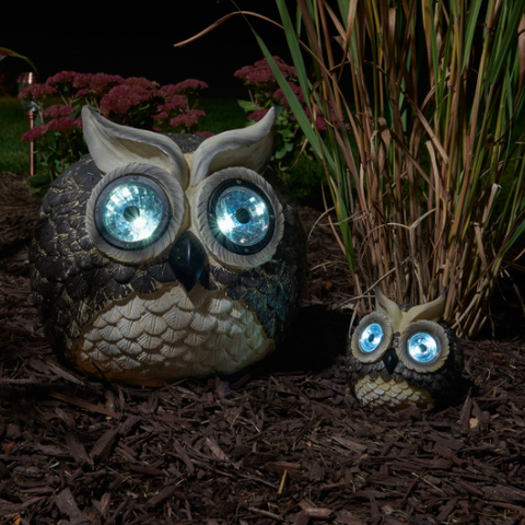 Smart Living Solar Owl Accent Lights (Set of 2)