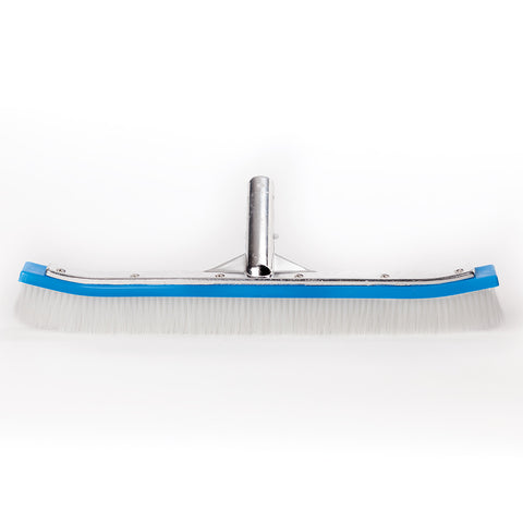 "Pentair 18"" Curved Wall Brush, Poly Bristles, Metal Handle"