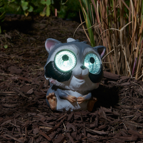 Smart Living Solar Garden Pals, Raccoon
