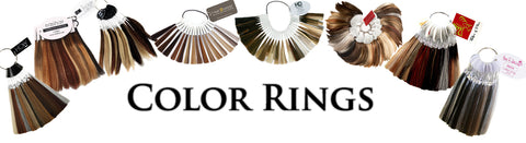 Color rings for wigs