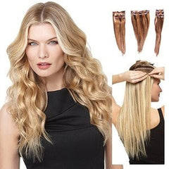 "18"" Remy Human Hair 10 Piece Extension Kit by HairDo - Wig Galaxy - 3"