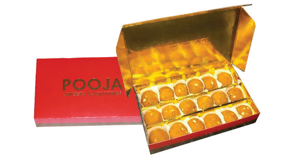 Motichoor Ladoo (over 1kg) in Special Gift Divider Gift Box