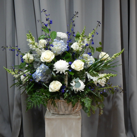 Splendid Blue Basket
