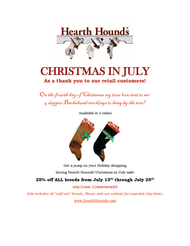 Hearth Hounds creates unique dog Christmas stockings for your best friend!