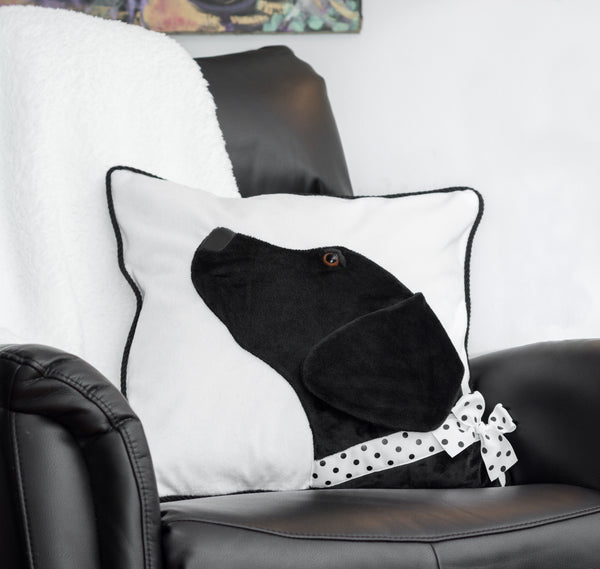 Black Lab Decorative Pillow Case