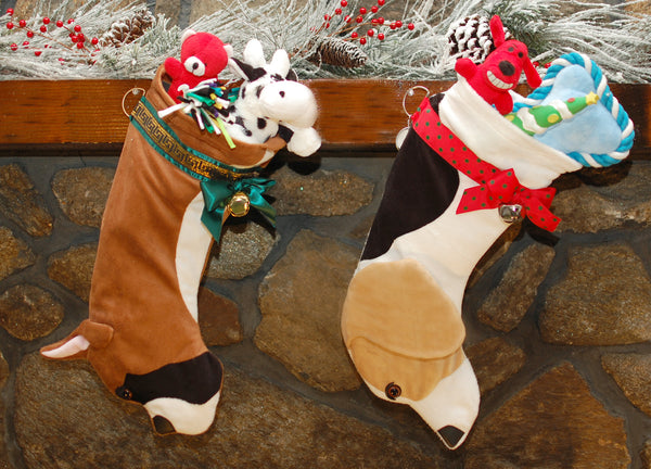 This Boxer shaped Christmas dog stocking is the perfect gift for stuffing toys and treats into to spoil your fur baby for Christmas, or whatever holiday you celebrate!
