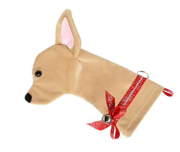 This Chihuahua dog Christmas stocking is the perfect gift for stuffing toys and treats into to spoil your fur baby for Christmas, or whatever holiday you celebrate!