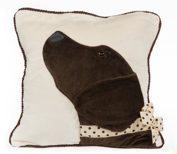 Chocolate Lab Decorative Pillow
