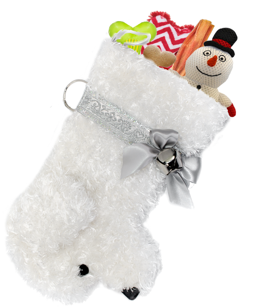 Bichon Maltese Maltipoo dog breed maltipoo shih poo Christmas stocking by Hearth Hounds