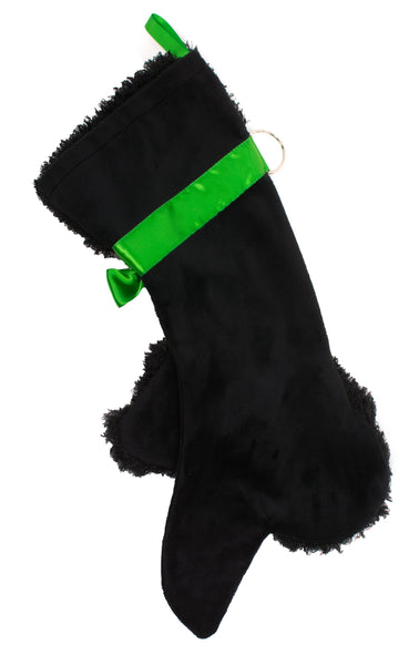 This Black Poodle shaped Christmas dog stocking is the perfect gift for stuffing toys and treats into to spoil your fur baby for Christmas, or whatever holiday you celebrate!