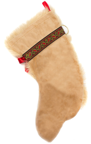 This Golden Retriever dog shaped Christmas stocking is perfect for stuffing toys and treats into to spoil your fur baby for Christmas, or whatever holiday you celebrate!