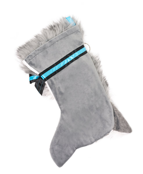 This Husky shaped Christmas dog stocking is perfect for stuffing toys and treats into to spoil your fur baby for Christmas, or whatever holiday you celebrate!