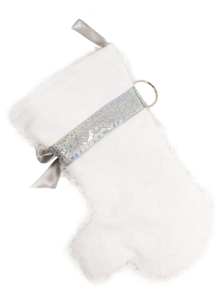 This Snowball Christmas dog stocking is inspired by the Maltese and Bichon Frise and is the perfect gift for stuffing toys and treats into to spoil your fur baby for Christmas, or whatever holiday you celebrate!