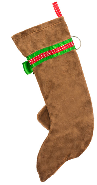 This Red Dachshund Christmas dog stocking is perfect for stuffing toys and treats into to spoil your fur baby for Christmas, or whatever holiday you celebrate!
