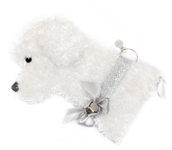 """Snowball"" White Dog Christmas Stocking"