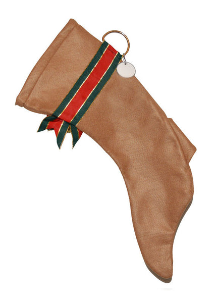 This Tan Greyhound dog shaped holiday stocking is perfect for stuffing toys and treats into to spoil your fur baby for Christmas, or whatever holiday you celebrate!